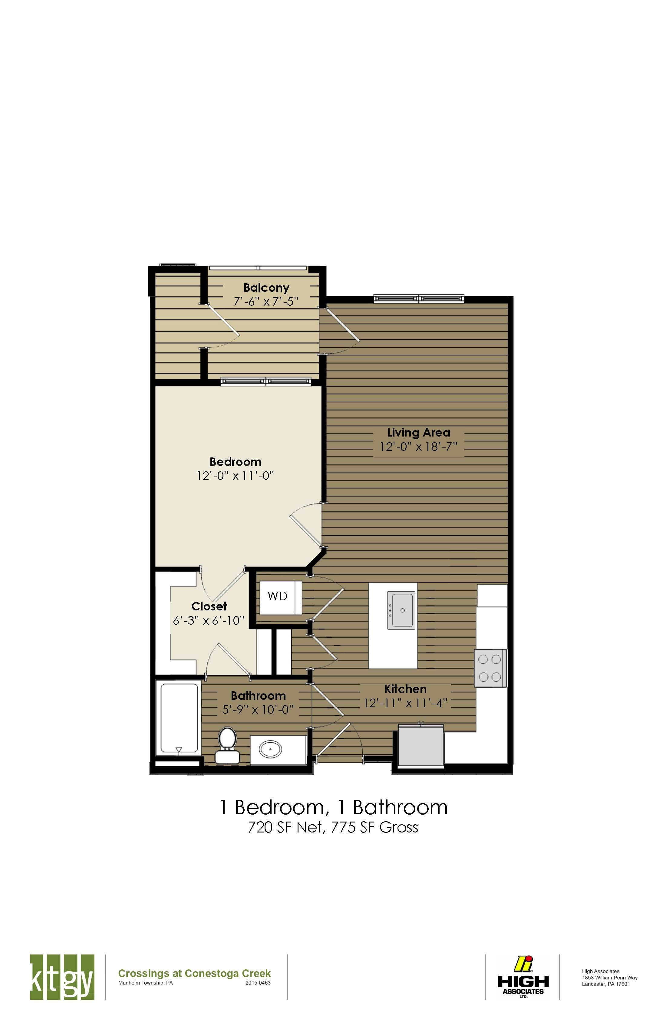1 Bedroom  - Armstrong