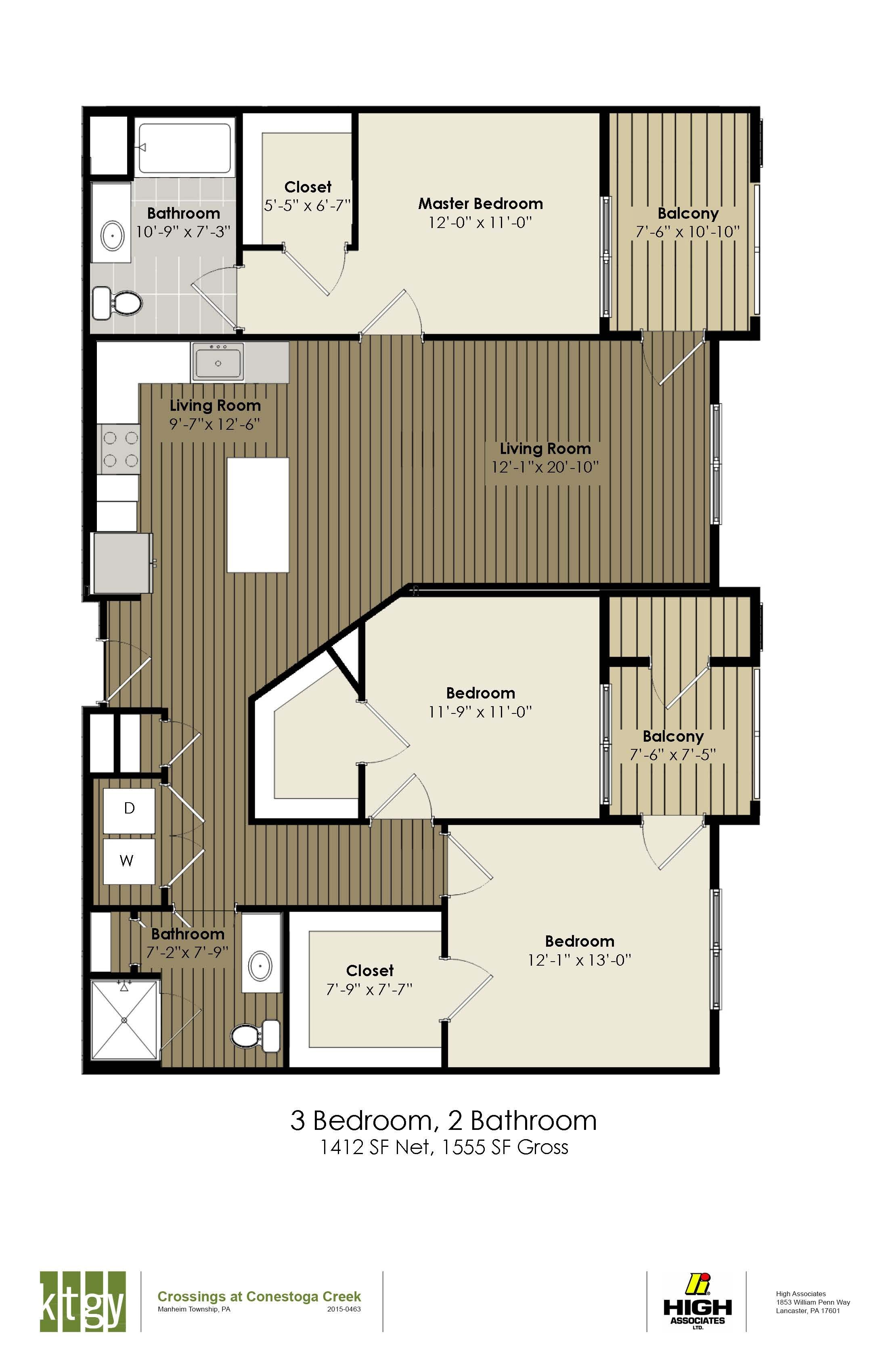 3 Bedroom ADA - Buchanan
