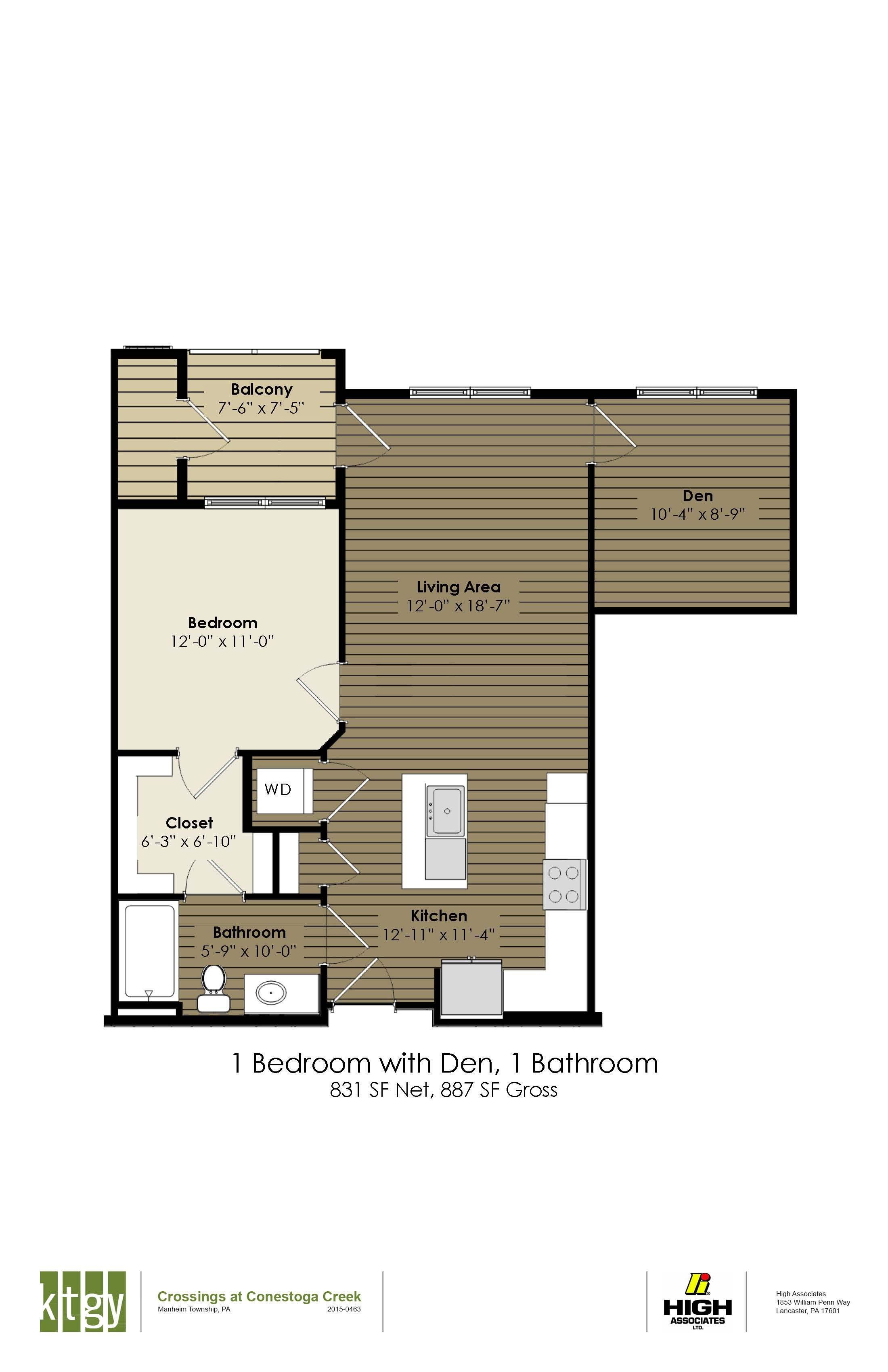 1 Bedroom With Den - Watt & Shand