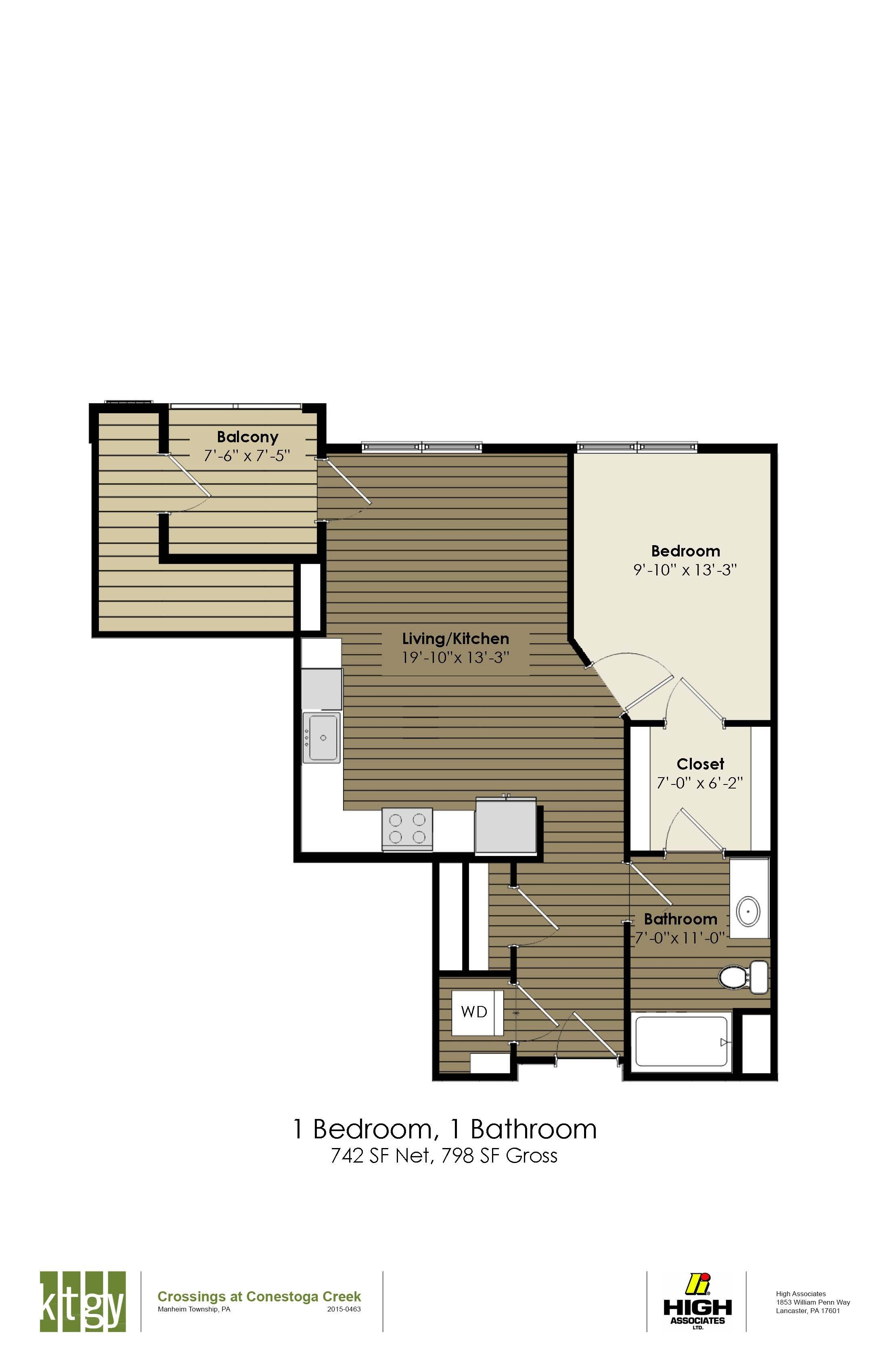 1 Bedroom - Wright
