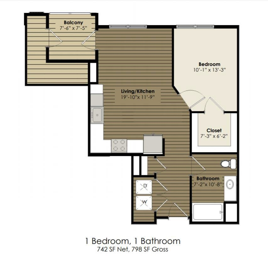 1 Bedroom ADA - Donecker